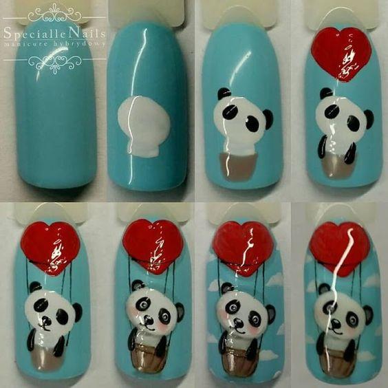 paznokcie panda