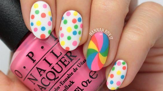 cukierkowy manicure