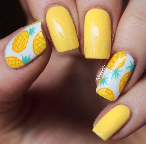 paznokcie ananas