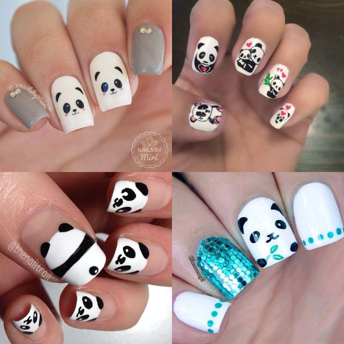 Paznokcie Panda 12 Fajnych Wzorkow
